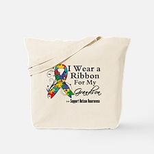 Grandson - Autism Ribbon Tote Bag