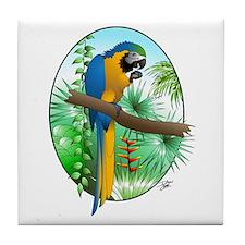 Macaw-BG Tile Coaster