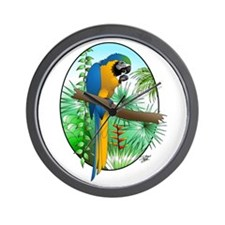 Macaw-BG Wall Clock