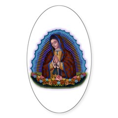 Lady of Guadalupe T3 Sticker (Oval 50 pk)
