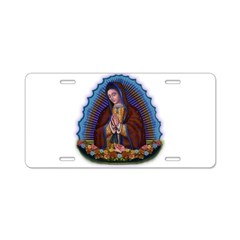 Lady of Guadalupe T3 Aluminum License Plate