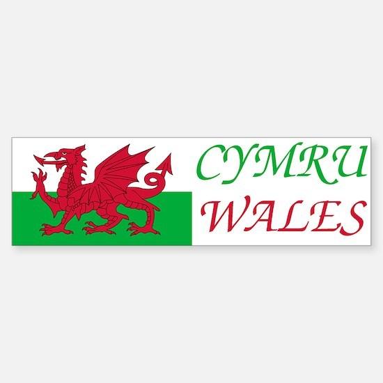 Wales-Car Car Sticker2 Bumper Car Car Sticker