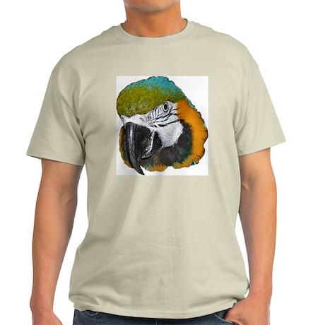 Blue an Gold Macaw Ash Grey T-Shirt