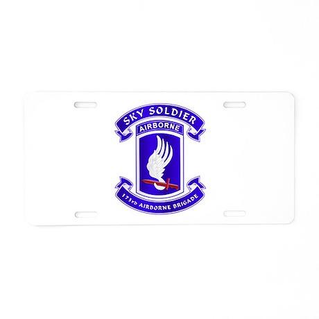 173d Airborne Brigade Aluminum License Plate