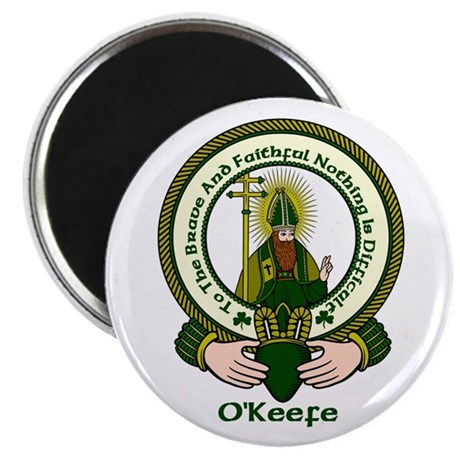 """O'Keefe Clan Motto 2.25"""" Magnet (10 pack)"""