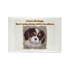 Sleep with Cavs Rectangle Magnet