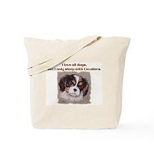 Sleep with Cavs Tote Bag