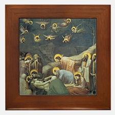 Lamentation of Christ Framed Tile