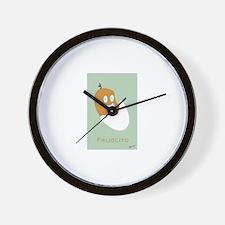 Baby Bean/ Frijolito Wall Clock