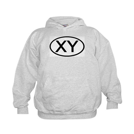 XY - Initial Oval Kids Hoodie