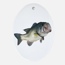 Bass Fisherman Ornament (Oval)