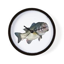 Bass Fisherman Wall Clock