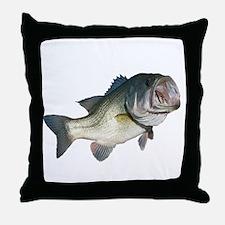 Bass Fisherman Throw Pillow