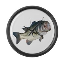 Bass Fisherman Large Wall Clock