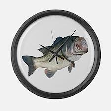 Bass Fisherman Large Wall Clock