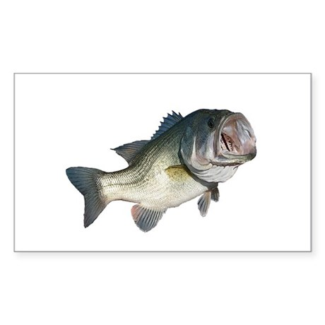 Bass Fisherman Sticker (Rectangle)