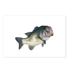 Bass Fisherman Postcards (Package of 8)