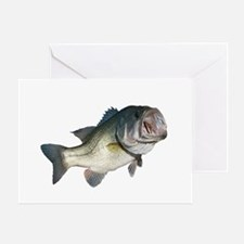 Bass Fisherman Greeting Card
