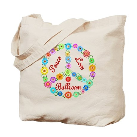 Ballroom Peace Sign Tote Bag
