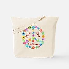 Ballroom Peace Sign Tote Bag