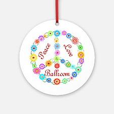 Ballroom Peace Sign Ornament (Round)