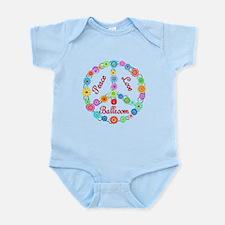 Ballroom Peace Sign Infant Bodysuit