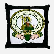 Logan Clan Motto Throw Pillow