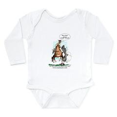 Foaling Around Long Sleeve Infant Bodysuit
