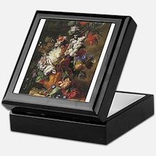 Bouquet of Flowers in an Urn Keepsake Box