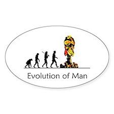 Evolution of Man - Bomb Decal