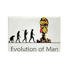 Evolution of Man - Bomb Rectangle Magnet