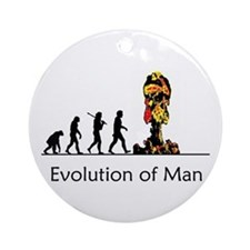 Evolution of Man - Bomb Ornament (Round)