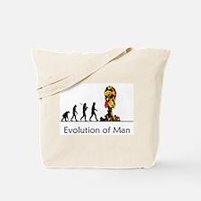 Evolution of Man - Bomb Tote Bag