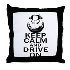 Lotus Keep Calm Throw Pillow