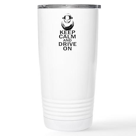 Lotus Keep Calm Stainless Steel Travel Mug