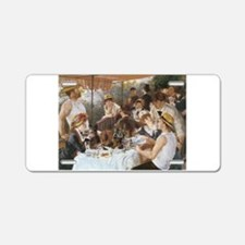 Luncheon of the Boating Party Aluminum License Pla