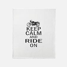 Bonneville - Keep Calm Throw Blanket