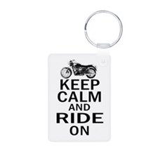 Bonneville - Keep Calm Aluminum Photo Keychain