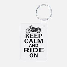 Bonneville - Keep Calm Aluminum Photo Keychain