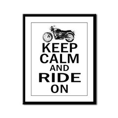 Bonneville - Keep Calm Framed Panel Print