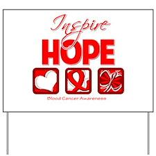 Blood Cancer Inspire Hope Yard Sign