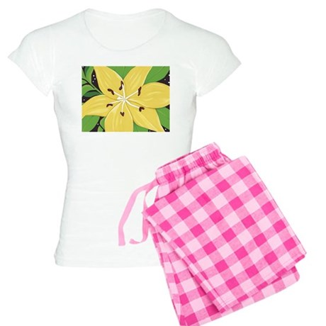 A Yellow Lilly Two Women's Light Pajamas