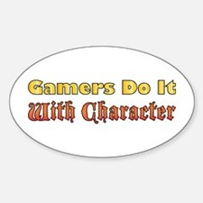 Gamers Do It Oval Decal