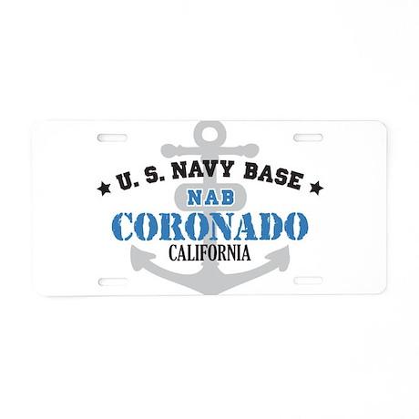 US Navy Coronado Lake Base Aluminum License Plate