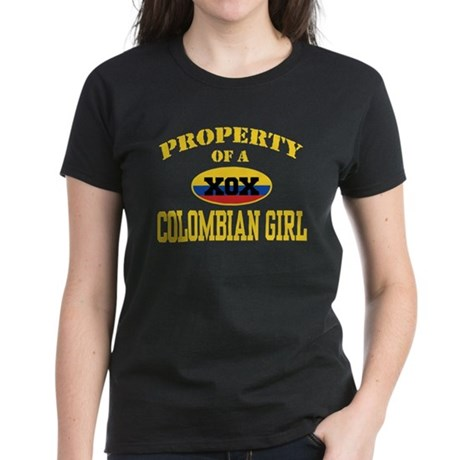 Property of a Colombian Girl Women's Dark T-Shirt