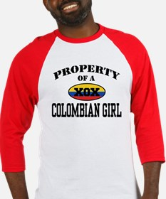 Property of a Colombian Girl Baseball Jersey