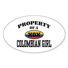 Property of a Colombian Girl Decal