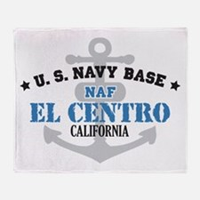 US Navy El Centro Base Throw Blanket