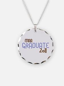 MBA Graduate 2011 (Retro Purple) Necklace