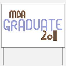 MBA Graduate 2011 (Retro Purple) Yard Sign